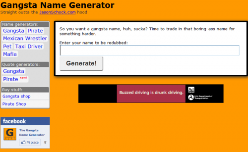 Ghetto Name Generator Related Keywords & Suggestions