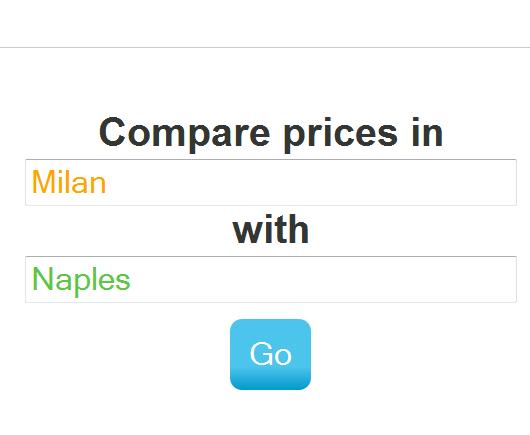 Expatistan comparare il costo della vita di due citta for Il costo della costruzione di un garage