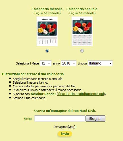 Cartoline Ch Calendario.Cartoline Ch Creare Online Un Calendario 2011 Con La