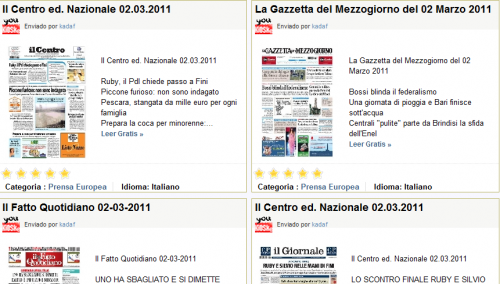 Youkioske leggere giornali quotidiani e riviste gratis for Riviste arredamento on line gratis