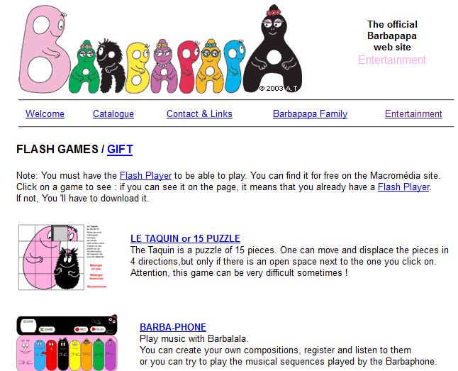 Tanti Giochi Flash Barbapapa Per Bambini Da Giocare Online Gratis