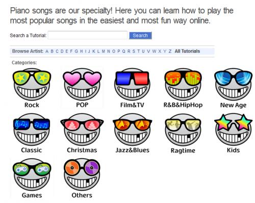 Imparare a suonare con il pianoforte le canzoni famose con tutorial