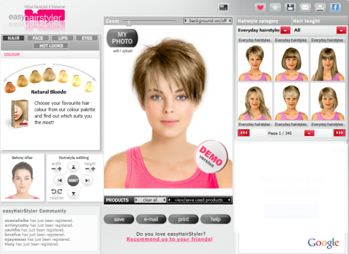 Come provare un taglio di capelli online
