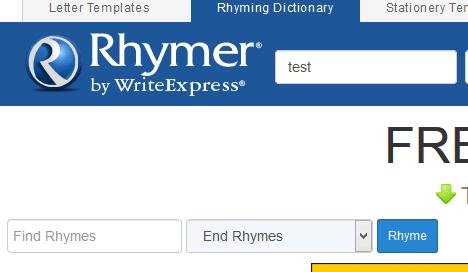 rhyming, rime di parole inglesi, cercare rime in inglese