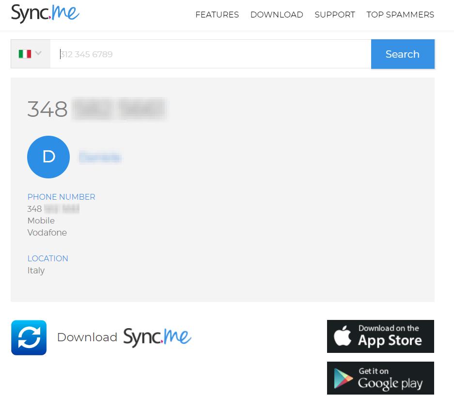 SYNC.ME - SCOPRIRE A CHI APPARTIENE UN NUMERO DI CELLULARE